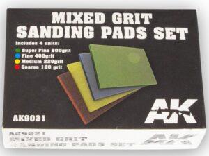AK-9021 AK INTERACTIVE Mixed Grit Sanding Pads Set 800 grit.4 units