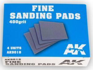 AK-9018 AK INTERACTIVE Fine Sanding Pads 400 grit. 4 units