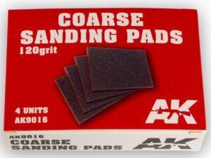 AK-9016 AK INTERACTIVE Coarse Sanding Pads 120 grit.4 units
