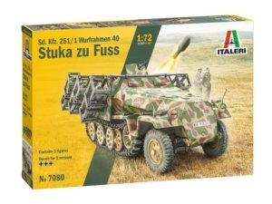 """7080 ITALERI 1/72 sd.kfz. 251/1 wurfrahmen 40 """"stuka zu fuss"""""""
