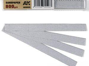AK-9025 AK INTERACTIVE Dry Sandpaper 800 grit x 50 units