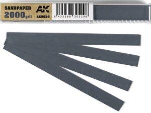 AK-9028 Wet Sandpaper 2000 grit x 50 units AK INTERACTIVE