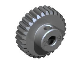 3RAC-PG4829 3Racing 48 Pitch Pinion Gear 29T (7075 w/ Hard Coating)
