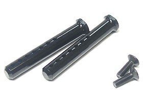 3RAC-BP40/BL Aluminum Body Post 40mm - Black - 3Racing