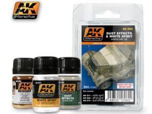 AK-0060 Effetti di polvere DUST EFFECTS AND WHITE SPIRIT SET AK INTERACTIVE