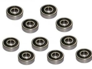 3RB-MR104-2RS_10 Cuscinetti a sfera Double Rubber Seals Bearing 4 x 10 x 4 mm ( 10 pcs) - 3Racing