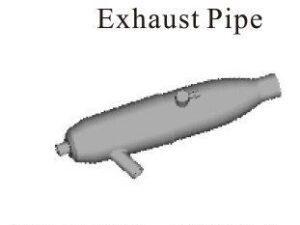 102009 02124 ATHENA RK Aluminum Exhaust Pipe