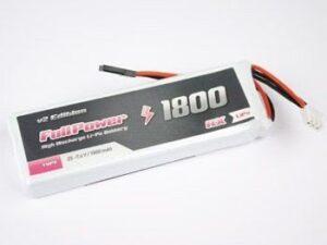 447914 RX Lipo 2S 1800 mAh 35C V2 - JR FullPower Batteria