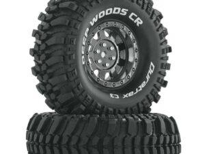 "DTXC4027 Deep Woods CR C3 Mounted 1.9"" Crawler Tires Chrome (2)"