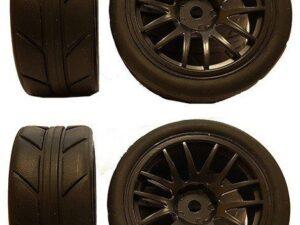 634430B 1/10 On-Road 14-Spoke Tire Set (4 pcs) Rim634230B+Tire633007 KINGTAIR RK