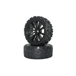 634332B 1/10 On-road 10-Spoke Tire Set (4 pcs) Rim634232W+Tire633011 KINGTAIR RK