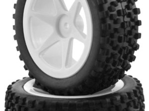 644026W-F 1/10 Buggy Six Rim Tire Set Front (2 pcs) KINGTAIR RK