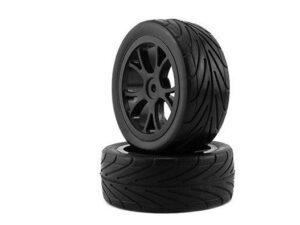645004W-R 1/10 Buggy 10 spokes Tire Set Rear (2 pcs) KINGTAIR RK