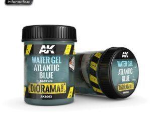 AK-8003 [DIORAMA] WATER GEL ATLANTIC BLUE - 250ml (Acrylic) AK INTERACTIVE