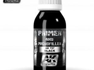 AK-0757 BLACK PRIMER AND MICROFILLER 100 ml AK INTERACTIVE