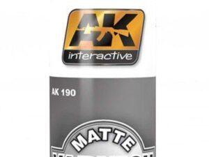 AK-0190 Vernice acrilica trasparente MATTE VARNISH 60 ml AK INTERACTIVE