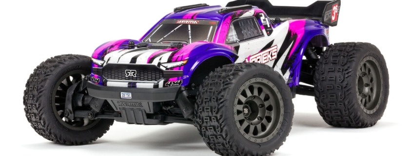 ARA4305V3T2 1/10 VORTEKS 4X4 3S BLX Stadium Truck RTR Purple ARRMA