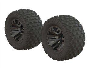 ARA550086 Dboots 'Fortress MT' Tire Set Glued Gun Metal (2)